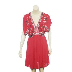 Free People Dress M Coin Embellished Mini 12277